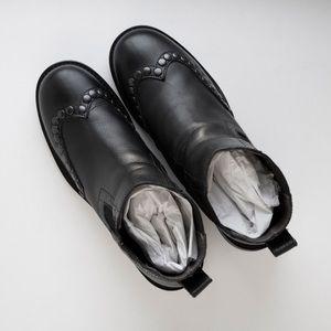 Boemos Black Studded Chelsea Boots